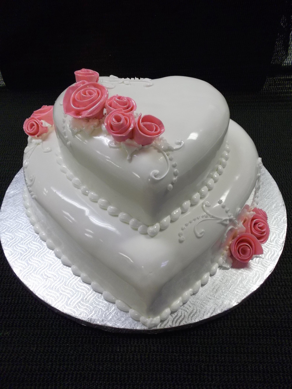 Gâteau 2 étages Coeur Boulangerie Lamontagne
